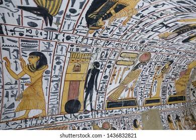 Scene from a Tomb in Deir el-Medina Village, Luxor City, Egypt