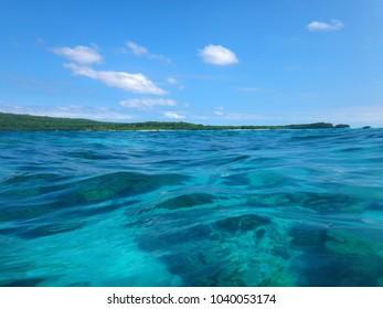 Scene of Tranquility Island, Efate, Vanuatu.