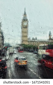 scenerio of World famous church from inside the bus on a rainy day - Shutterstock ID 1671541051