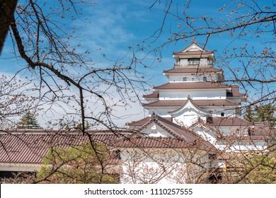 Scenery of the Aizu Wakamatsu castle