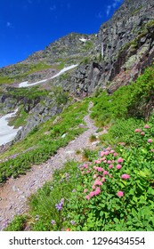 Scenery along the Sperry Glacier Trail in Glacier National Park of Montana