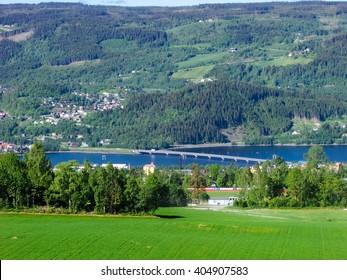 Scenery around Lillehammer, Norway.