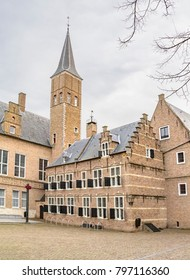 scenery around Middelburg Abbey in Middelburg located in the dutch province of Zeeland