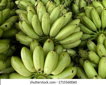 Scenery background of The tropical Thai fruit in Thai fruit market (banana)
