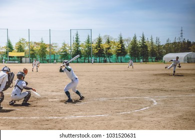Scenery of the baseball game