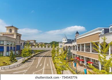 Scenery of the beautiful shopping street