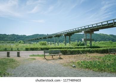 Scenery with bench / Horai Bridge