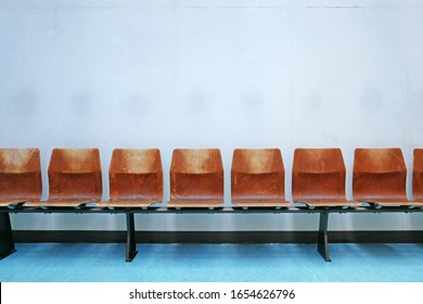 Scenery of a bench installed indoors