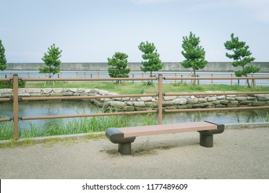 Scenery with bench / Yaizu fishing port hydrophilic square