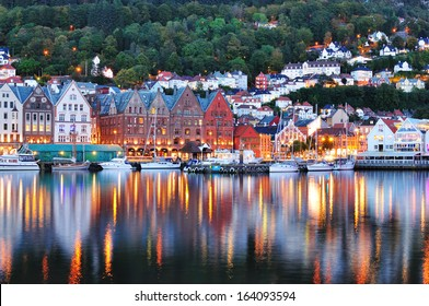 Scenery of Bryggen in Bergen. UNESCO World Heritage Site, Bryggen (Bergen) Norway.