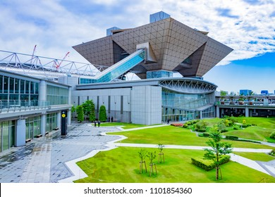 Scenery of the building group near Tokyo Big Sight