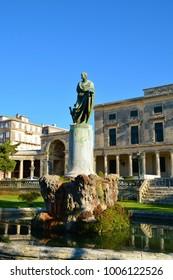 scenery and buildings of kerkira, capitol of corfu, greece