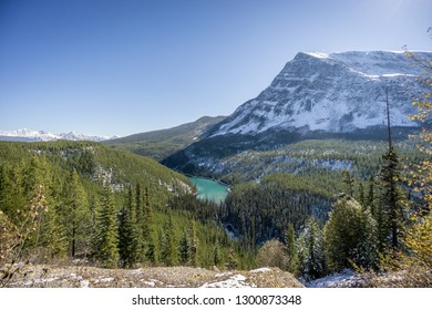 Scenery of Canadian Rockies Mountains in Banff National Park in Autumn, Alberta, Canada