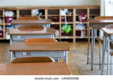 Scenery of a classroom with nobody