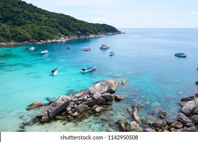 Scenery of Clear blue water at Donald Duck bay/Similan Island number 8/Phang Nga/Thailand