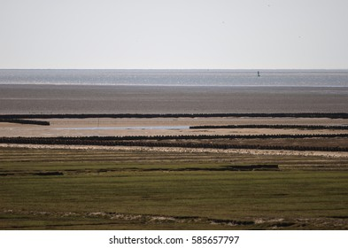 Scenery of the conservation area Wadden Sea.
