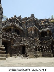 scenery at the Ellora Caves in the state Maharashtra located in India