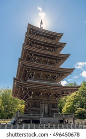Scenery of the five storied pagoda in Sendai