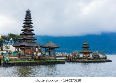 Scenery of a floating temple in Bali, Indonesia
