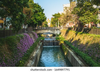scenery of Green Waterway in taichung city, taiwan