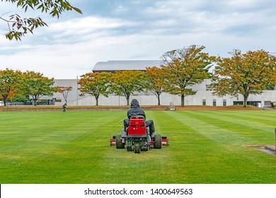 Scenery of the ground maintenance