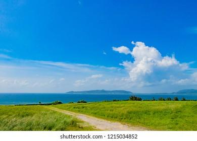 Scenery from the hill of Okinawa Ishigakijima