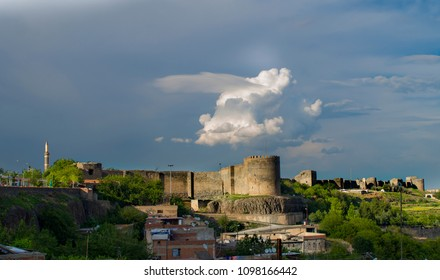 scenery of Diyarbak?r-Turkey historical walls and Hevsel gardens