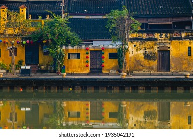 """scenery Hoi An ancient town by thu bon river in vietnam. Translation: """"Tan Ky house"""", the name this heritage building - Shutterstock ID 1935042191"""