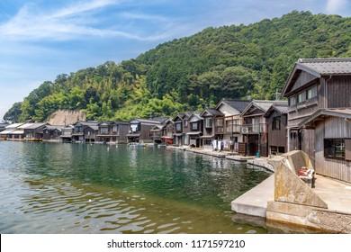 Scenery of the Ine no Funaya Houses in Kyoto, Japan