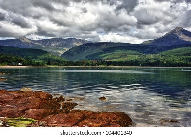 Scenery of the Isles of Arran in Scotland