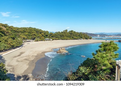 Scenery of Katsura-hama beach in Kochi, Japan