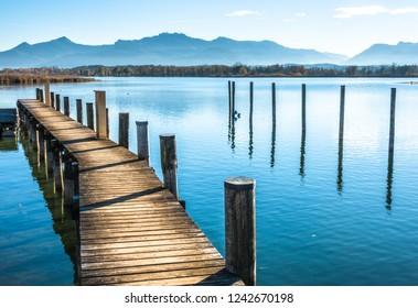 scenery at lake chiemsee - bavaria - germany