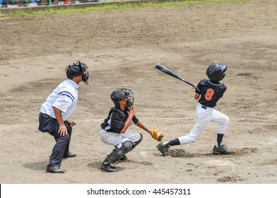 Scenery of the little league baseball game