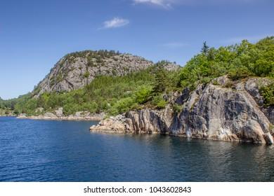 Scenery in the Lysefjord near Stavanger, Norway