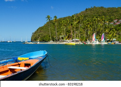 Scenery at Marigot Bay in St Lucia