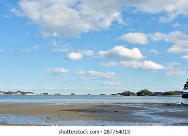 Scenery of Matsuhima coast in Miyagi, Jpaan