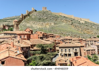 scenery of the medieval town of Albarracin in Teruel, Aragon, Spain