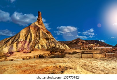 Scenery natural park.Hill and storm clouds.Dramatic desert landscape and sand mountains