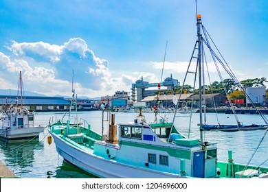 Scenery of Numazu Port in Shizuoka Prefecture