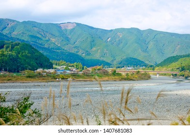 The scenery of Oi river at Shimada town, Shizuoka prefecture, Japan
