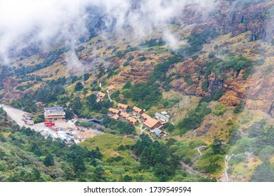 The scenery on the route Go up to the viewpoint of Jiaozi snow Mountain Tourist attractions of Yunnan with beautiful nature,kunming,china