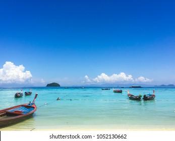 scenery of pattaya beach,Koh Lipe Island,Thailand at noon.