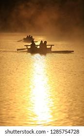 Scenery of river rafting in Huai Pang tong Reservoir at Pang Oung, Pang Tong Royal Development Project ,Ban Ruam Thai, Mae Hong Son, Thailand
