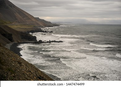 Scenery seascape at Eastern fjords in Iceland