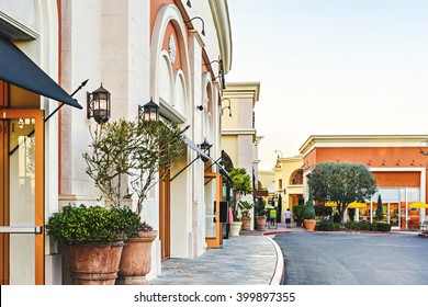 Scenery of the shopping mall in dusk