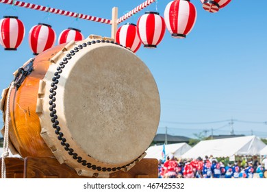 Scenery of the summer festival in Japan