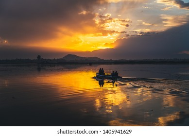Scenery of sunset at Kashmir