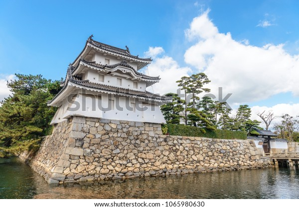 Scenery of the Takamatsu castle in Takamatsu, Japan