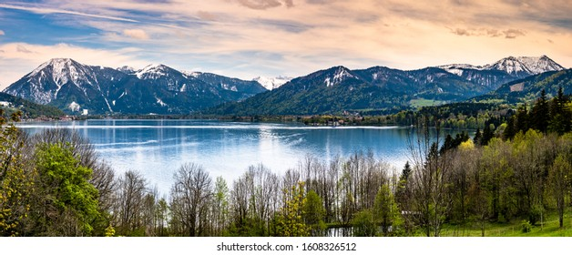 scenery at the tegernsee lake in bavaria - germany
