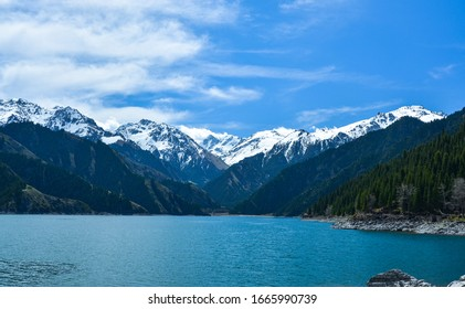 Scenery of Tianchi Scenic Zone in Tianshan Mountains, China
